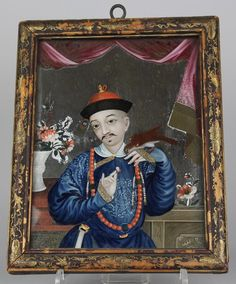 antique reverse paintings on glass chinese - Cerca con Google