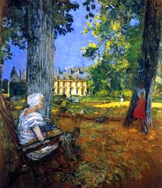 In the Park at the Château des Clayes - Edouard Vuillard - circa 1933-1938