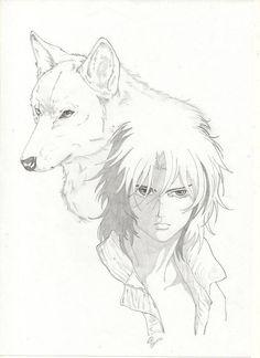 Ilustração wolf's rain Kiba -Edi santos Illustration wolf's rain Kiba -Edi santos