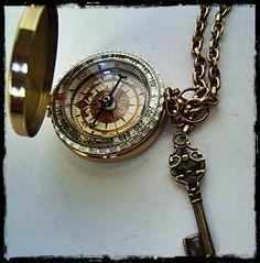 """Entièrement fonctionnel 3 """"compas en laiton, Steampunk / nautical accessoire fête des pères"""
