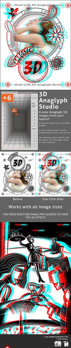 3D Anaglyph Studio - Photo Effects Actions