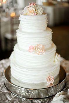 wedding cake idea; photo: Julie Cate Photography