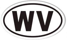 WV West Virginia Oval Sticker