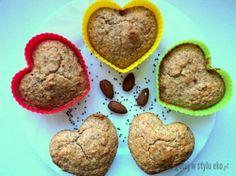 Muffinki migdałowe z nasionkami chia - bez mąki, cukru :)