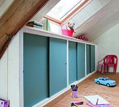 conseils pratiques bricolage sur un placard sous rampant portes coulissantes dcoration mobilier - Faire Ses Portes Coulissantes