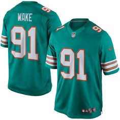cameron wake miami dolphins nike limited alternate jersey aqua