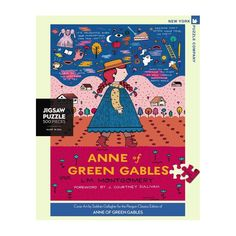 New York Puzzle Company - Penguin Random House Anne of Green Gables - 500 Piece Jigsaw Puzzle Literary Gifts, Penguin Random House, Anne Of Green Gables, Book Cover Art, House Colors, New Day, 500 Piece Jigsaw Puzzles, Penguins, Kids Rugs