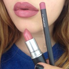 Brave lip with Soar liner by MAC