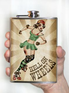Hell on Wheels Stainless Steel Flask - 8oz.