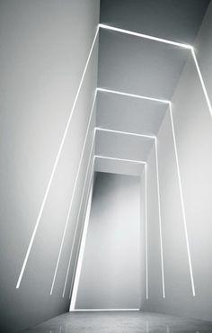 65 Modern & Contemporary Led Strip Ceiling Light Design - Ceiling Lights - Ideas of Ceiling Lights Corridor Lighting, Interior Lighting, Lighting Design, Lighting Ideas, Lighting Solutions, Strip Lighting, Modern Lighting, Ceiling Light Design, False Ceiling Design