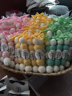 tubes of bath bombs. Neat way to package handmade soaps and bath bombs