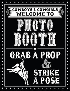 Western photo booth props sign Cowboy Photo Booth Props sign