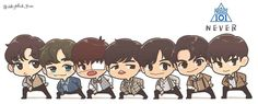 Chibi 101 48 Beautiful Team Never Produce 101 Walt Disney Characters, Chibi Characters, Chibi Disney, Wizard101, Sailor Chibi Moon, Kpop Drawings, Chibi Girl, Ha Sungwoon, First Art