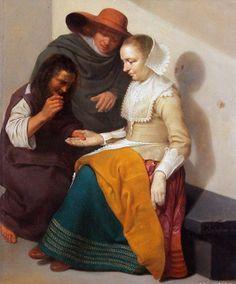 Jacob Van Velsen (Dutch artist, 1597-1656) The Fortune Teller