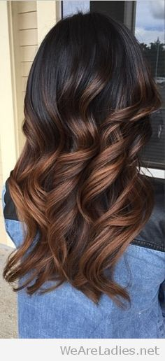 Don't LIke this one...just a comparison of what I don't want. Chocolate ombre hair color