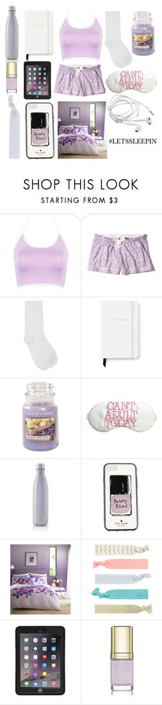 """""""Let's Sleep in"""" by amber-lanehart ❤ liked on Polyvore featuring WithChic, Hollister Co., M&Co, Kate Spade, Yankee Candle, S'well, Lipsy, Accessorize, Griffin and Dolce&Gabbana"""