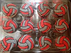 Volleyball Cupcakes