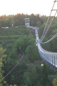 Die längste Hängebrücke der Welt!  Harzdrenalin, Rappbodetalsperre, Harz, Germany