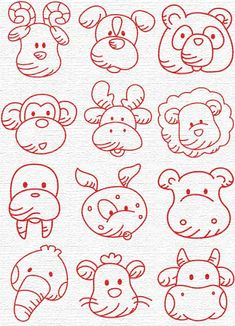 Free Embroidery Designs, Sweet Embroidery, Designs Index Page Embroidery Applique, Embroidery Patterns, Machine Embroidery, Easy Drawings, Cartoon Drawings, Cricut, Coloring Pages, Needlework, Cross Stitch