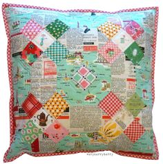 Good tips for making quilted cushions! from VeryKerryBerry.
