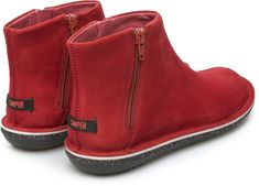 Camper Beetle Red Ankle boots Women 46613-034