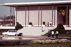 American Embassy in New Delhi/Edward Durell Stone Ed Stone, Glass Curtain Wall, Famous Architects, New Delhi, Modern Architecture, Facade, Mid-century Modern, House Plans, Mid Century