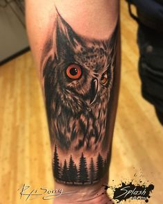 #owl #owltattoo #realistictattoo #splashstudio #blxckink #lacenano #lacenanotattoomachines