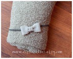 Stone Gray Newborn Stretch Knit Baby Wrap with by ekplovelies - Newborn Prop