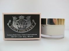 Juicy Couture Body Creme Luminous, 3.4 Ounce by Juicy Couture. Save 43 Off!. $19.99. Delicately scents and softens the skin while lending it a glamorous gold sheen. Luminous juicy creme, filled with royal bee jelly, essential nutrients, lipids and proteins. Creme is in a 3.4 Ounceclear twist top jar with our signature juicy crest on the lid. Juicy Couture Luminous Body Creme, inspired by the world of fashion and fun, Juicy Couture is a delicious mix of watermelon, mandarin, passion apple…