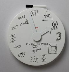 Blank Wall Clock.. Interesting personalizable clock for kids.