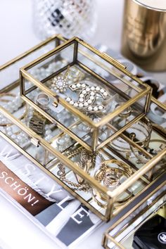 Birthday Unboxing - A little somethings from Louis Vuitton & Chanel - My Philocaly Jewellery Storage, Jewelry Organization, Jewelry Box, Gold Jewelry, Glass Display Box, Glass Boxes, Chanel Jewelry, Fashion Jewelry, Fashion Art