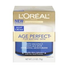 L'Oreal Age Perfect Night Cream For Mature Skin 2.5 oz (Pack of 3) * This is an Amazon Affiliate link. Find out more about the great product at the image link.
