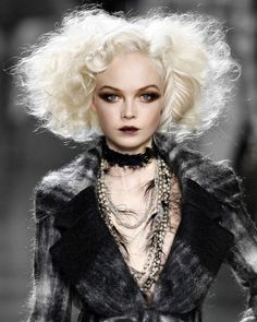 I HAVE to recreate this hair and makeup on myself for a shoot!! Oh man, so good. //Siri Tollerod for Christian Dior Fall 2010 #catwalk