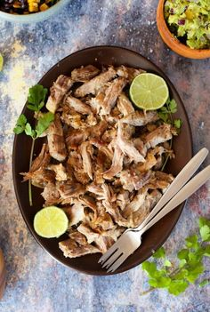 Instant Pot Pulled Pork with Puerto Rican inspired flavours - tender, shredded pork in an hour! | Gluten Free + Paleo + Whole30