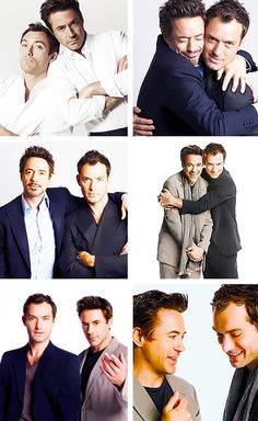 and Jude Law: Love the movies, love their chemistry! <<-- These 2 seriously need to make another Sherlock Holmes movie again Sherlock Holmes Robert Downey, Sherlock John, Robert Downey Jr, Jude Law, Holmes Movie, Guy Ritchie, Iron Man Tony Stark, Actrices Hollywood, Downey Junior
