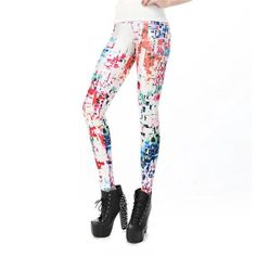 Boho Splattered Art Leggings