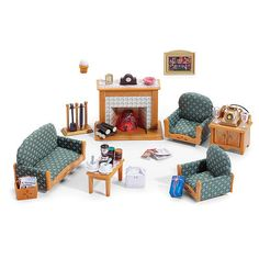 calico critters deluxe living room set sylvanian familiesliving - Sylvanian Families Living Room Set