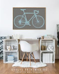 Road Bike Print. Large Wall Art. Custom Bike Art. Personalized Bicycle Print. Bike Decor. Bicycle Gift. Boys Room Decor. Cycling Art Poster. Etsy Shop: https://www.etsy.com/shop/EVOLVEPRINTMAKING More Bike Prints: https://www.etsy.com/shop/EVOLVEPRINTMAKING?ref=l2-shopheader-name&search_query=bike CUSTOMIZATION Please leave custom color details for the background color and bike color in the note to seller section during Etsy checkout. Me...