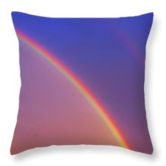 Vector Throw Pillows - Rainbow Throw Pillow by Todd and candice Dailey