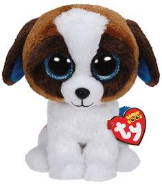 Ty Beanies Duke Brown White Dog Medium