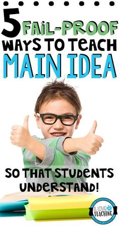 Many students struggleto find the main idea of a passage. Students tend to confuse the main idea with the summary, while others just can't seem to grasp the concept. Here are a few tips, ideas, and a