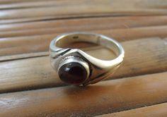 925 sterling silver ring granat silver ring di silveringjewelry
