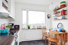 Retro design apartment in Sweden. Scandinavian home design.