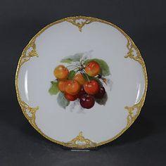 KPM-Berlin-Neuzierat-Obstteller-Prunkteller-22-cm-Teller-fruit-plate-Gold-Obst