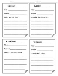 5th Grade Read Aloud Log // students follow along in a book as I read aloud or as an audiobook plays. At the end the of the Shared Reading time, my students stop and fill our one of these boxes per day.  Each day focuses on a different reading strategy, like making predictions, making connections, describing setting or characters, etc. // It keeps the kids accountable AND talking about the book!
