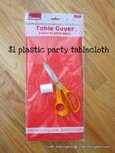 You can make lots of flower pom poms with a simple 1$ plastic table cloth !