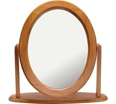 Buy HOME Oval Dressing Table Mirror - Oak Effect at Argos.co.uk, visit Argos.co.uk to shop online for Mirrors, Home furnishings, Home and garden