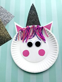 Unicorn Paper Plate Craft Fun Crafts For Kids, Projects For Kids, Easy Crafts, Arts And Crafts, Summer Crafts, Art Projects, Toddler Crafts, Holiday Crafts, Craft Activities