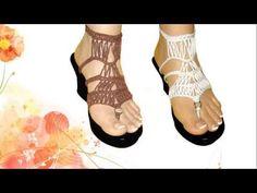 MARIER - Sandalias ► Calzado Tejido a Crochet - YouTube