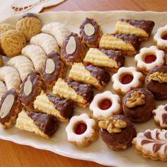 Czech Recipes, Tea Recipes, Sweet Recipes, Cookie Recipes, Dessert Recipes, Christmas Sweets, Christmas Baking, Nazook Recipe, Eid Sweets